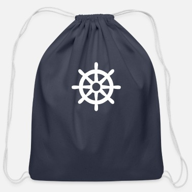 Legend Boats Steering Wheel Sail Boat - Cotton Drawstring Bag