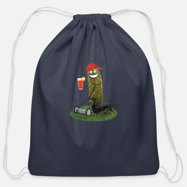 Lawn Mower Pickle Cotton Drawstring Bag