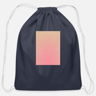 Base Line Cool Pink Lines - Cotton Drawstring Bag