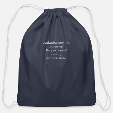Government Government by the worst - Cotton Drawstring Bag
