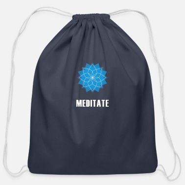 Meditation Meditate - Cotton Drawstring Bag