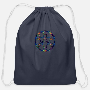 Phish Fractal Tetrahedron Psychedelic Sacred Geometry - Cotton Drawstring Bag