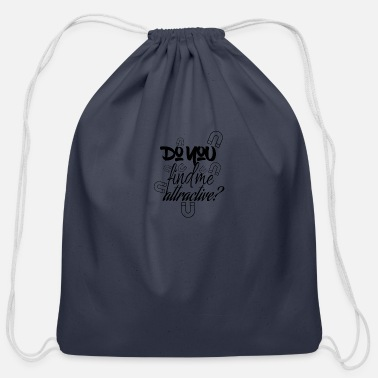 Attractive Attraction - Cotton Drawstring Bag