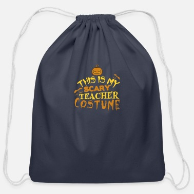 Teacher Costume Scary Teacher Costume - Cotton Drawstring Bag