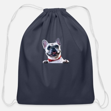 French Bulldog French Bulldog, Bulldog, Dog, Bulldogs, French Bul - Cotton Drawstring Bag