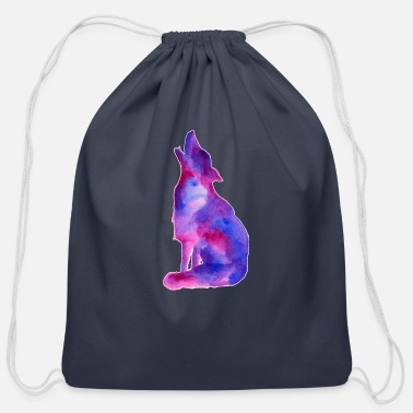 Galaxy Galaxy Wolf - Cotton Drawstring Bag