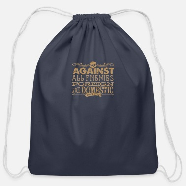 Foreign Against All Enemies foreign - Cotton Drawstring Bag