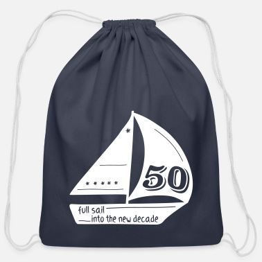 Captain sailor's 50th birthday - Cotton Drawstring Bag