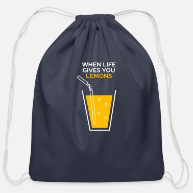 Idiom Funny Lemonade Idiom - Cotton Drawstring Bag