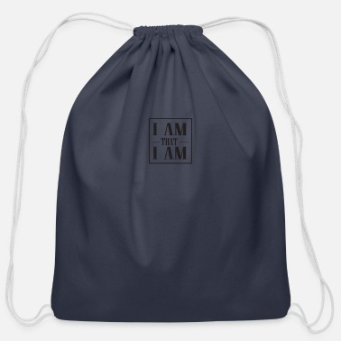 Am I AM that I AM - Cotton Drawstring Bag