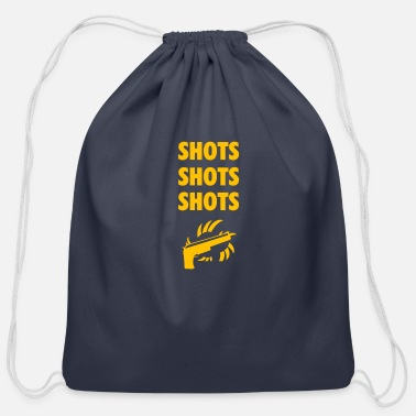 Shot Shots shots shots - Cotton Drawstring Bag