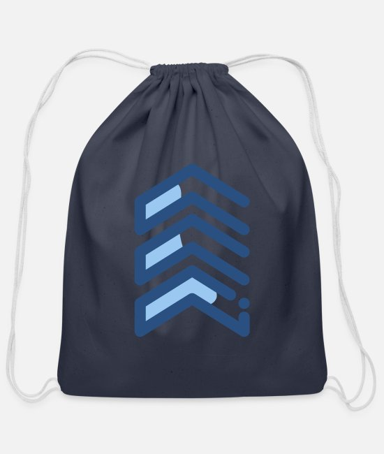 US Army Sergeant Bags & Backpacks - Army Sergeant Rank Symbol - Cotton Drawstring Bag navy