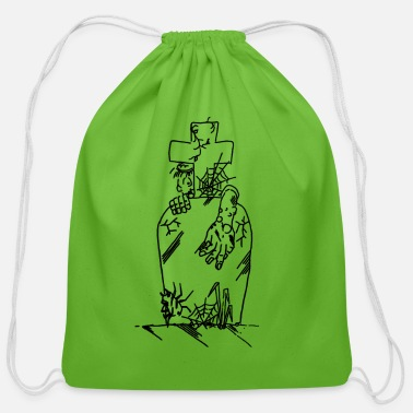 Grave grave - Cotton Drawstring Bag