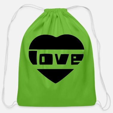 Love With Heart love with heart - Cotton Drawstring Bag