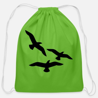 birds - Cotton Drawstring Bag