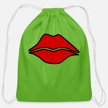 Luscious Luscious Lips - Cotton Drawstring Bag
