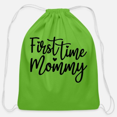 First Time First Time Mommy - Cotton Drawstring Bag