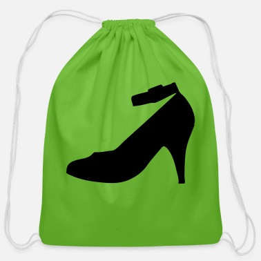 Highheels Vector highheels Silhouette - Cotton Drawstring Bag
