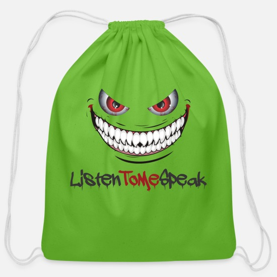 Scary Bags & Backpacks - clear logo - Cotton Drawstring Bag clover