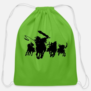horsemen - Cotton Drawstring Bag