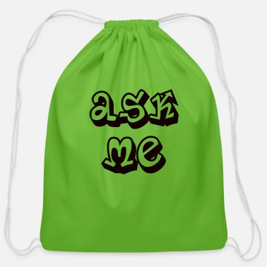 Ask Me - Cotton Drawstring Bag