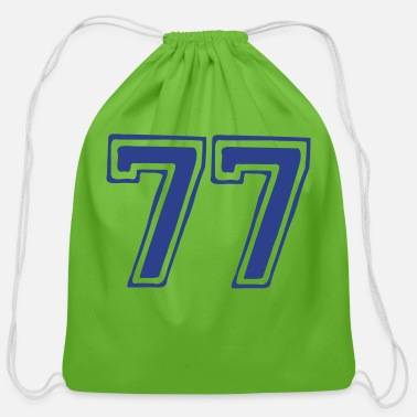Best Numerology Lifepath Desitny Expression ۞»★Lucky Number 77-Vector Design★«۞ - Cotton Drawstring Bag