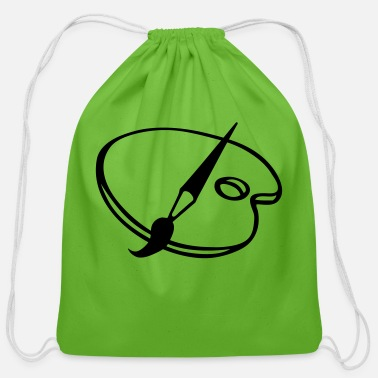 Painting paint - Cotton Drawstring Bag