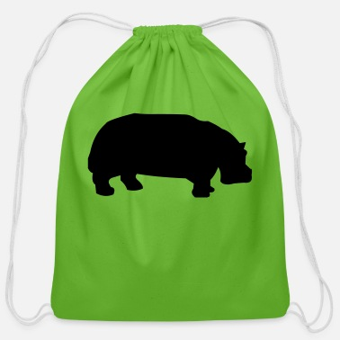 Africa hippo - Cotton Drawstring Bag