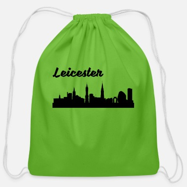 Leicester Leicester Skyline - Cotton Drawstring Bag