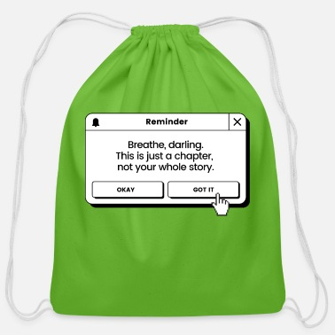 Achieve Your Dreams Breathe Darling This is Just A Chapter - Cotton Drawstring Bag