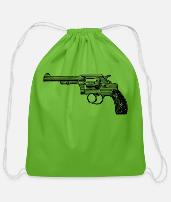 Drawing Bags & Backpacks - Service Revolver - Cotton Drawstring Bag clover
