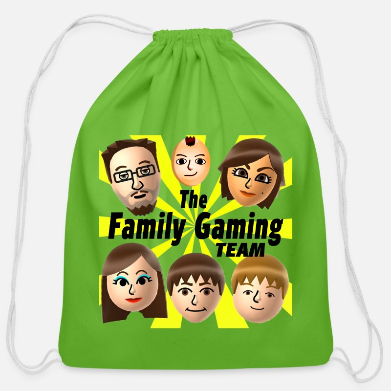 Youtube Bags & backpacks - FGTeeV The Family Gaming Team - Cotton Drawstring Bag clover