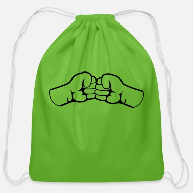 Punching Team Bro Fist - Cotton Drawstring Bag