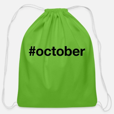 October OCTOBER - Cotton Drawstring Bag