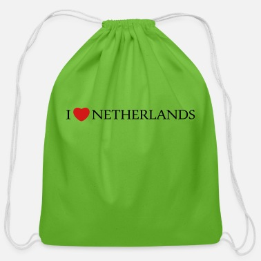 Netherlands I Love Netherlands - Cotton Drawstring Bag