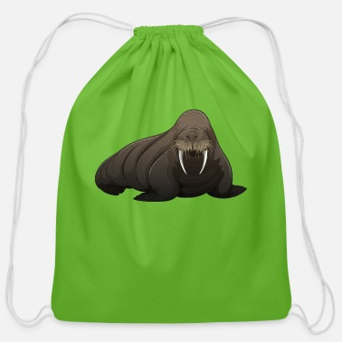 Walrus Walrus sea animal wild life sea lion - Cotton Drawstring Bag