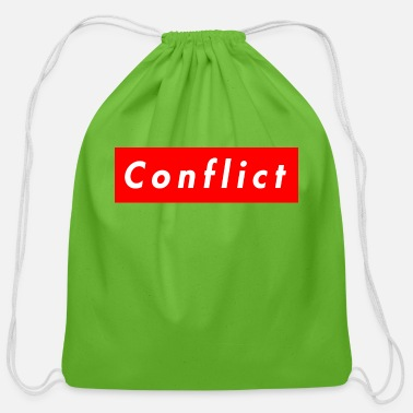 Conflict conflict bogo - Cotton Drawstring Bag