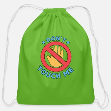 covid 19 - Cotton Drawstring Bag