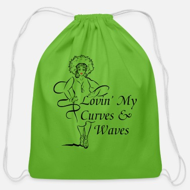 Positivity Curves Waves Trans - Cotton Drawstring Bag