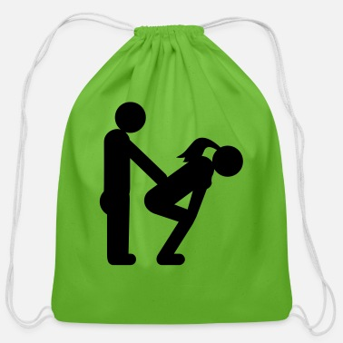 Love straight couple - Cotton Drawstring Bag