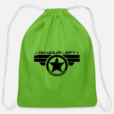 On Your Left On Your Left Running Club - Cotton Drawstring Bag