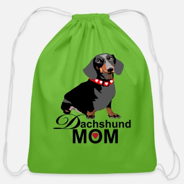 Dachshund Dachshund Mom - Cotton Drawstring Bag