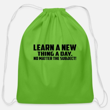 learn a new - Cotton Drawstring Bag