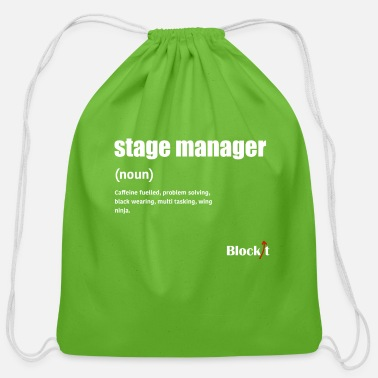 Manager Stage Manager Definition (white) - Cotton Drawstring Bag