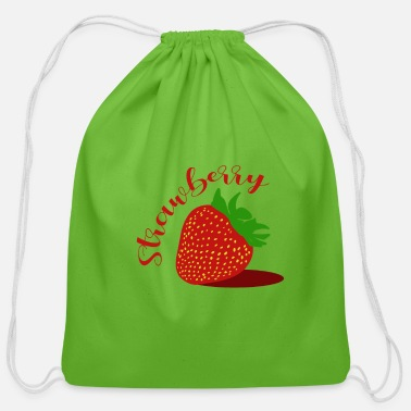Strawberry Strawberry - Cotton Drawstring Bag