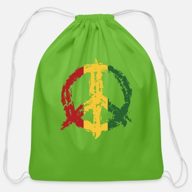 Peace Sign Peace Sign Peace Symbol - Cotton Drawstring Bag