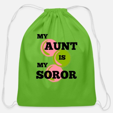 Ivy MY AUNT IS MY SOROR | AKA Inspired | HBCU - Cotton Drawstring Bag