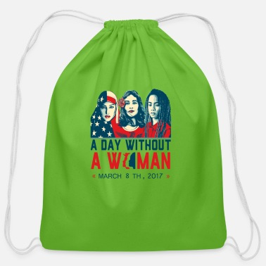 International Women's March-On International Women's Day, March - Cotton Drawstring Bag