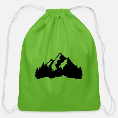 Capricorn Mountains and Forest - Cotton Drawstring Bag