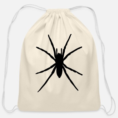 Silhouette spider silhouette - Cotton Drawstring Bag